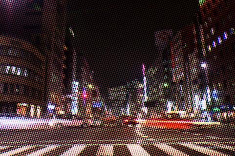 数時間目と違う夜の景色